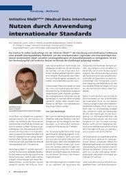 Nutzen durch Anwendung internationaler Standards
