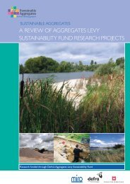 a review of aggregates levy sustainability fund research projects