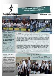 Technical Newsletter November 2010 - Swimming New Zealand