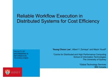Reliable workflow execution in distributed systems...