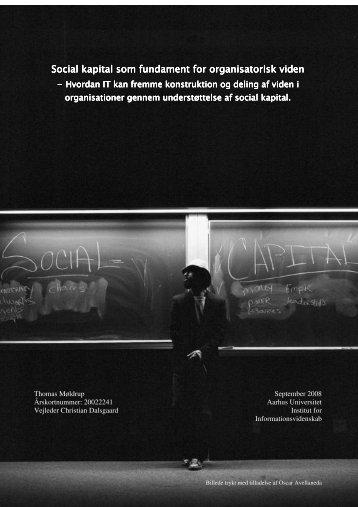 Social kapital som fundament for organisatorisk viden_ Speciale af ...
