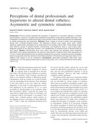 Perceptions of dental professionals and laypersons to altered dental ...