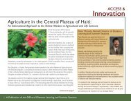 Agriculture in the Central Plateau of Haiti (PDF   1MB) - Virginia Tech