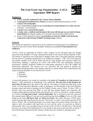 The Last Great Ape Organization - LAGA September 2009 Report