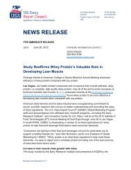 NEWS RELEASE - US Dairy Export Council