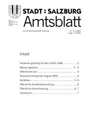 Amtsblatt 13/2005 (PDF, 515 kB) - Stadt Salzburg