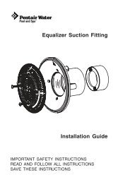 Equalizer Suction Fitting - Pentair