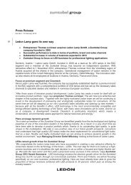 Press release (pdf, 104.12KB) - Zumtobel Group