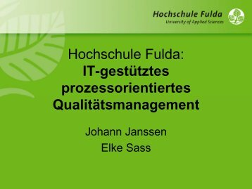 Prof. Dr. Johann Janssen, HS Fulda - KHSB