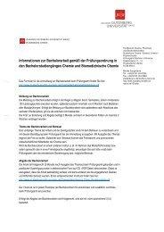 Informationen zur Bachelorarbeit - Studienbüros des Fachbereiches ...