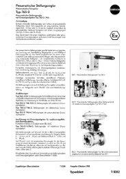Pneumatischer Stellungsregler - Samson AG Mess