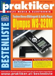 Testbericht Olympus WS-320M aus - Praktiker.at