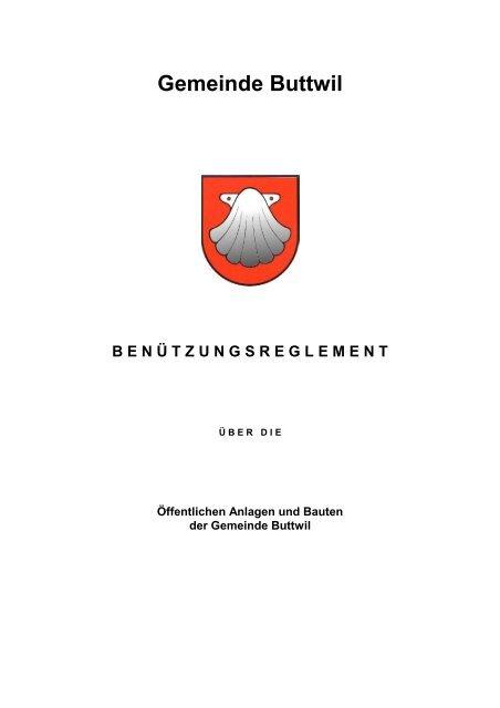 Reglement - Gemeinde Buttwil