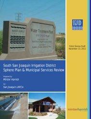South SJ Irrigation district sphere plan & municipal services review