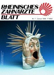 Rheinisches Zahnärzteblatt 01/1999 - Zahnärztekammer Nordrhein