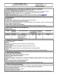 Steinsiegel - saugos duomenų lapas - Knauf