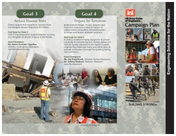 Campaign Plan Trifold - U.S. Army Corps of Engineers