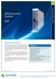 OPUS Inverter System EIM - Efore