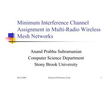 Minimum Interference Channel Assignment in Multi-Radio Wireless ...