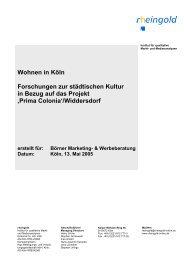 Wohnen in Köln Forschungen zur städtischen Kultur ... - Prima Colonia