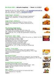 Bio Kurier Köln – Aktuelle Angebote – Stand: 11.4.2013 - bio-finder