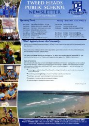 Term 2 Week 6 03.06.13 - Tweed Heads Public School
