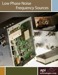 Frequency Sources Brochure - Spectrum Microwave by API ...