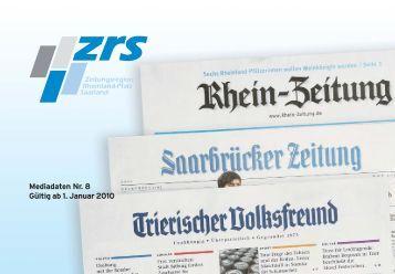 Mediadaten Nr. 8 Gültig ab 1. Januar 2010
