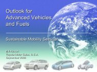 Outlook for Advanced Vehicles and Fuels Outlook for ... - Toyota