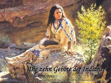Die zehn Gebote der Indianer