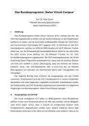 Das Bundesprogramm 'Swiss Virtual Campus'