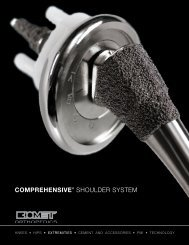 Comprehensive ® Shoulder System Product Brochure - Biomet