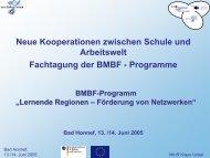 Lernende Regionen - Das Programm