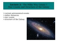 Lecture 2: The Milky Way Galaxy 1 Star Counts and Structure of the ...
