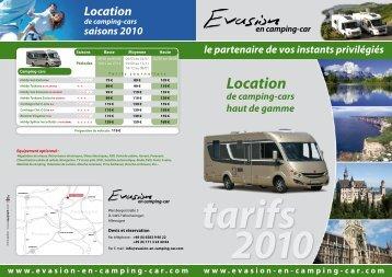 Location - Evasion en Camping-car