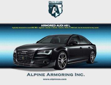 ARMORED AUDI A8 L - Alpine Armoring Inc.