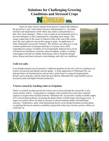 Solutions for Challenging Growing Conditions and Stressed Crops