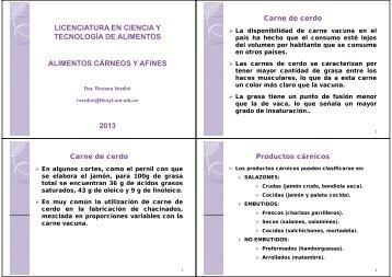 2013 - Facultad de Ciencias Bioquímicas y Farmacéuticas - UNR