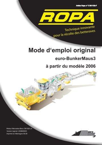 Mode d'emploi original - ROPA Fahrzeug- und Maschinenbau GmbH