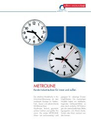 Metroline D 2005-07.qxd - Bürk Mobatime GmbH