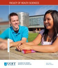 Faculty of health sciences - uoit - University of Ontario Institute of ...