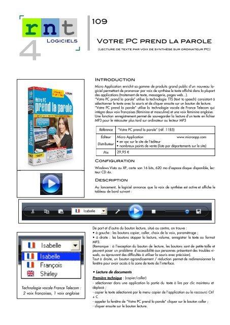 Votre PC prend la parole - Moteurline - APF