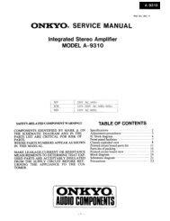 ONKYO@ SERVICE MANUAL - Page de test