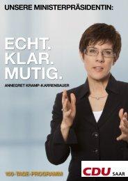 100 Tage Programm - CDU Saar
