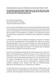 Die Haushaltsrede im pdf-Format... - CDU Overath