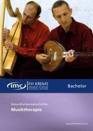 Folder - Bachelor - Musiktherapie - IMC Fachhochschule Krems GmbH