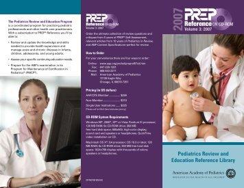 PREP Reference on CD-ROM - American Academy of Pediatrics