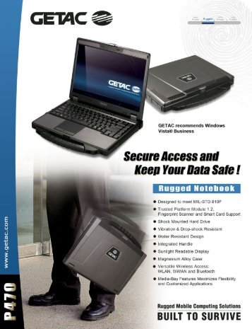 GETAC P470 brochure - Rugged PC Review