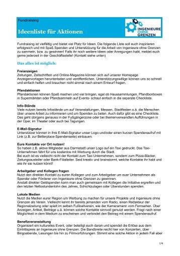 Fundraisingideen für RGs.pdf - Ingenieure ohne Grenzen