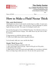 How to Make a Fluid Nectar Thick - Phoenix Children's Hospital